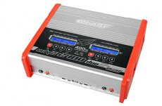 (C-48491) Team Corally - Eclips 2400 Duo Charger, AC/DC, 400W, Lcd Screen